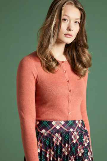 Cardi Roundneck Cocoon Dusty Rose 00319765