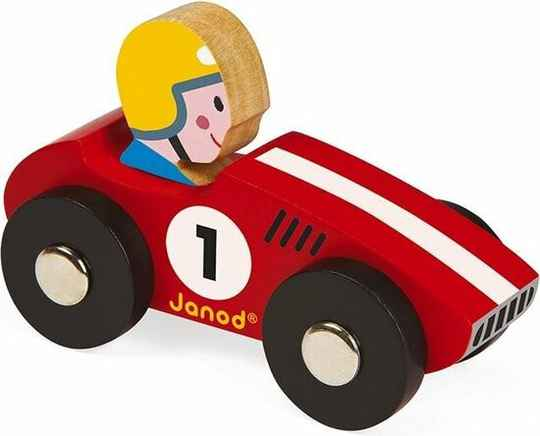 Janod. Story racing racer rood of geel