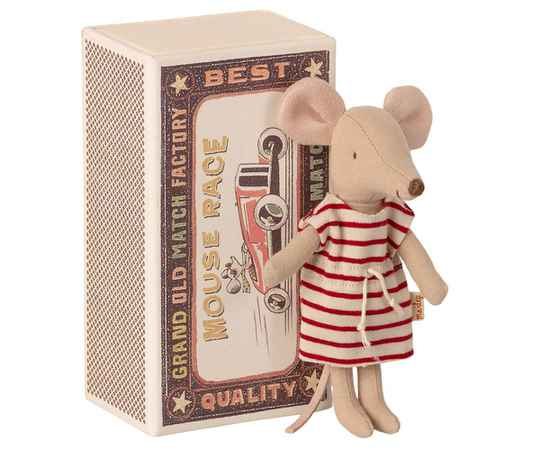 Maileg. Big sister mouse in matchbox 13cm