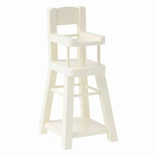 Maileg. High chair micro Wit