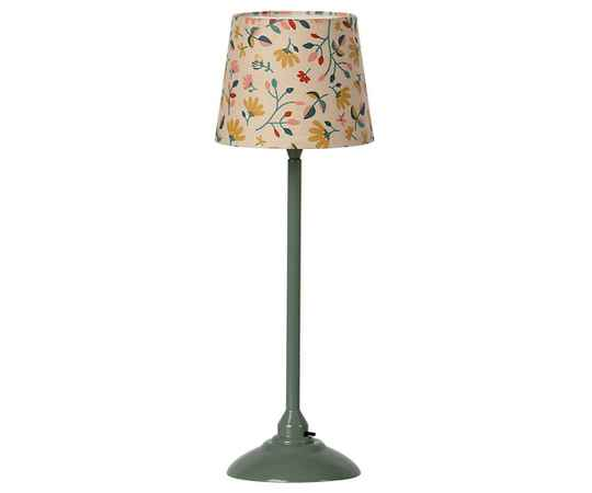 Maileg. Miniature floor lamp - Dark mint