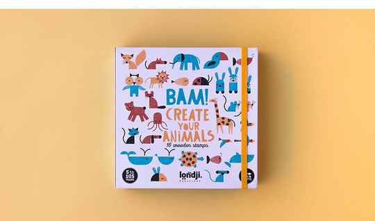 Londji. Bam! Creater your animals wooden stamps