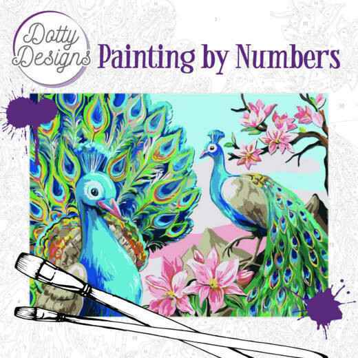 Dotty Design Painting by Numbers - Peacock  DDP1004