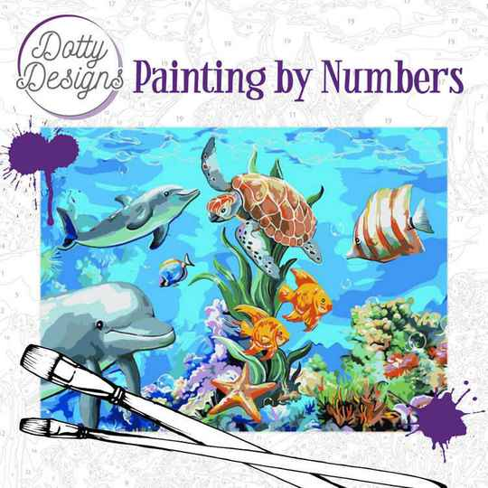 Dotty Design Painting by Numbers - Underwater World DDP1008