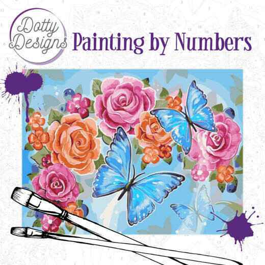 Dotty Design Painting by Numbers - Butterflies DDP1002