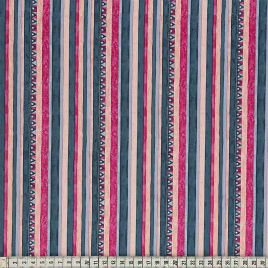 Triangle & Stripes Fuchsia c132448-00005 katoen