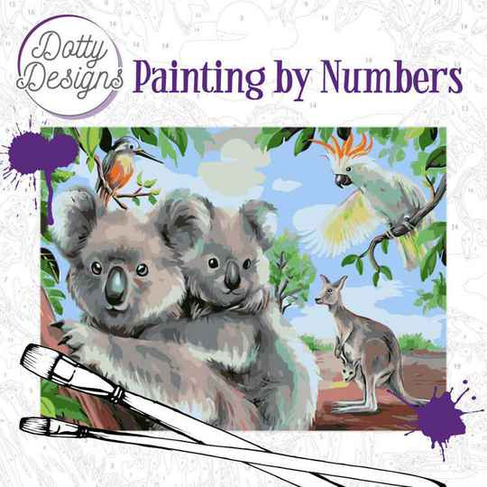 Dotty Design Painting by Numbers - Wild Animals Outback DDP1007