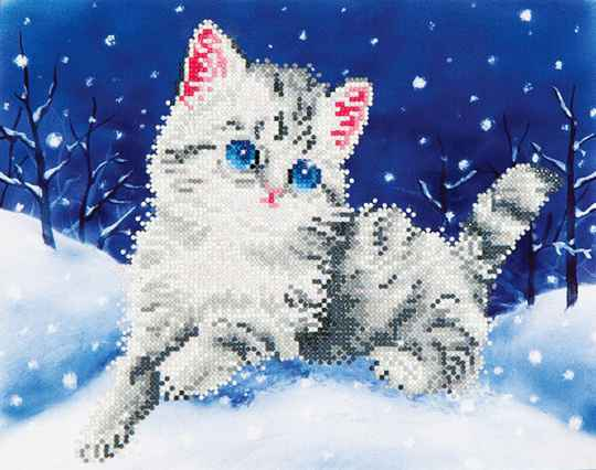 DD5.006 kitten in the snow 35,5x27,9