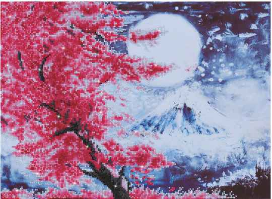 D.D9.015 cherry blossem mountain
