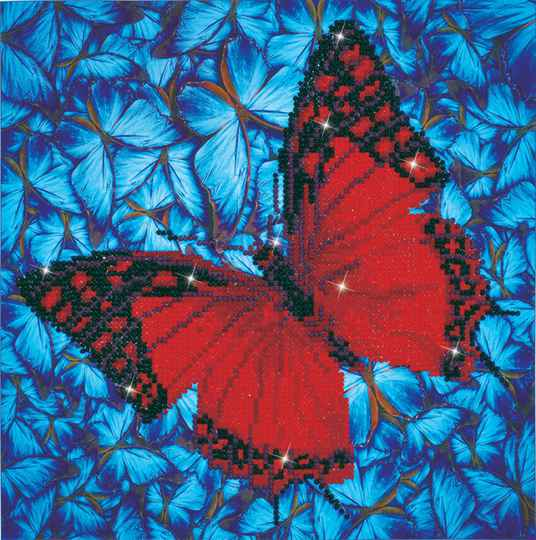 DD5.020 flutterby red 30,5x30,5