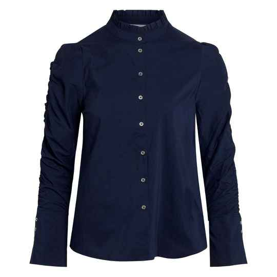 Co'couture - Sandy Elastic sleeve shirt - navy