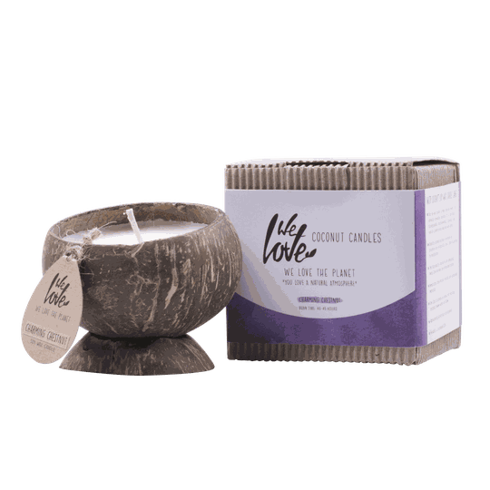 We Love Coconut candle Charming Chestnut | Geurkaars