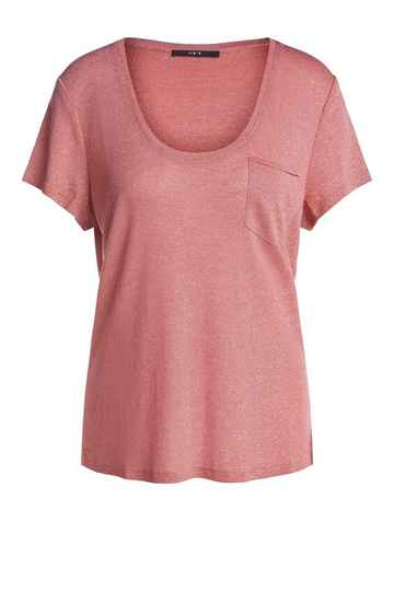 Set Fashion | Lurex shirt roze | T-shirt | TheClosetShop Huizen