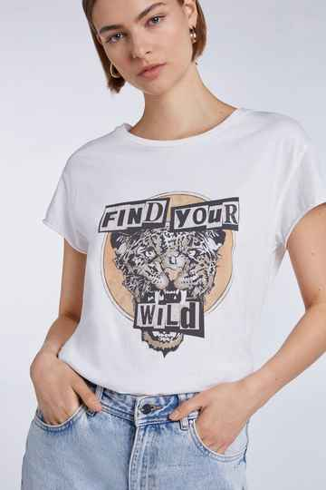 Set Fashion | Rocking band | T' shirt leopard motif