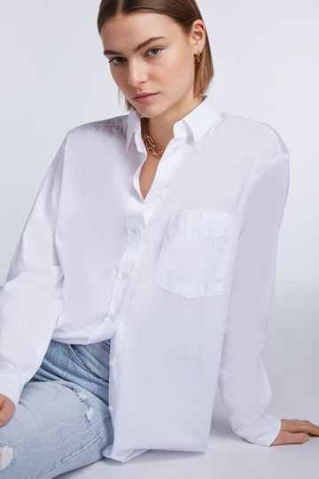 Set Fashion | Oversized poplin blouse | Wit