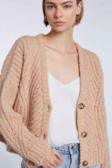 Set Fashion | Cosy cardigan | Ajour knit look