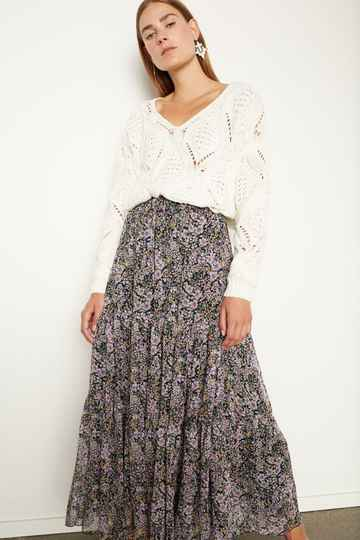 Set Fashion | Maxi skirt | Bloemenprint