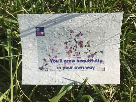 Groeikaart: You'll grow beautifully in your own way