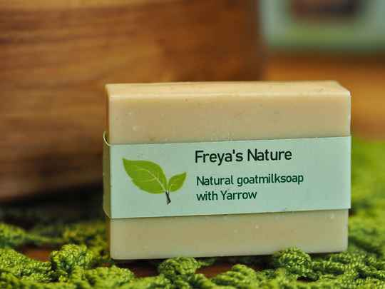 Freya's Natural goatmilksoap with yarrow