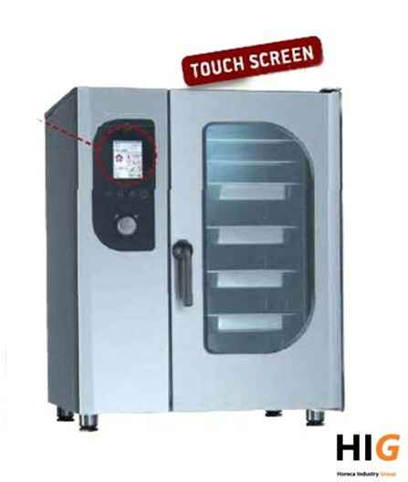 Steamer oven opzet - 6xGN1/1 - Touch screen - GAS/ELEK 230/1V - 204164T