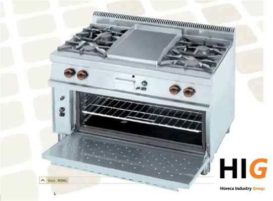 Frytop CrD.15mm/Glad - Oven CHE - Line 750 - GAS - 1200mmBreed - 20R5ML