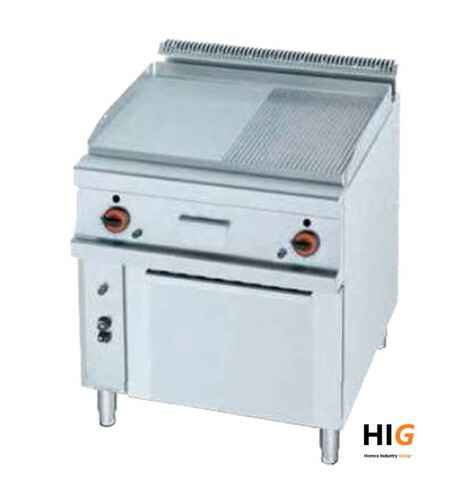 Frytop CrD.15mm - GN 2/1 oven - Line 750 - GAS - 800mmBreed - 1/2 Glad - 1/2Geribd  - 203666H