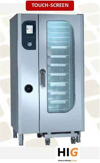 Steamer oven - 20xGN2/1 of 40xGN1/1 - Touch screen - GAS/ELEK - 204128T