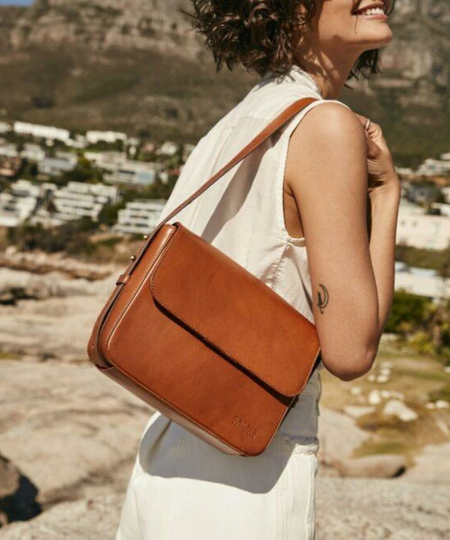 gina bag cognac
