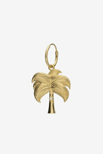 single palmtree earring goldplated (single)