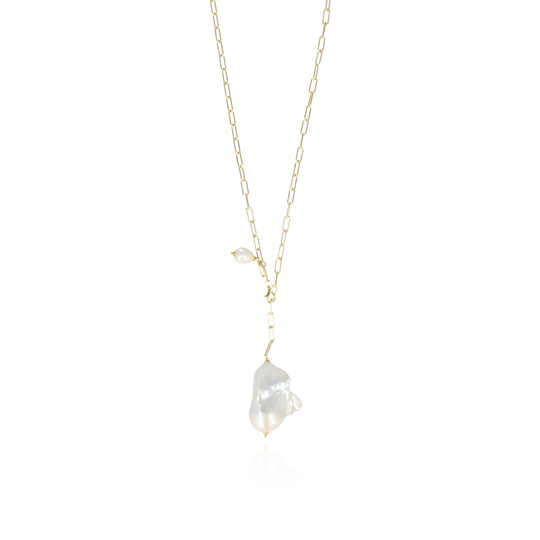 Necklace Teardrop Wild XL Off White | LOTT.Gioielli Necklaces