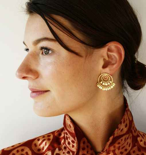 Holy Circle Stud | Christine Bekaert Earring