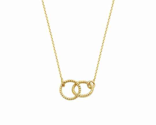 Vintage Necklace Double Open Circle | Just Franky