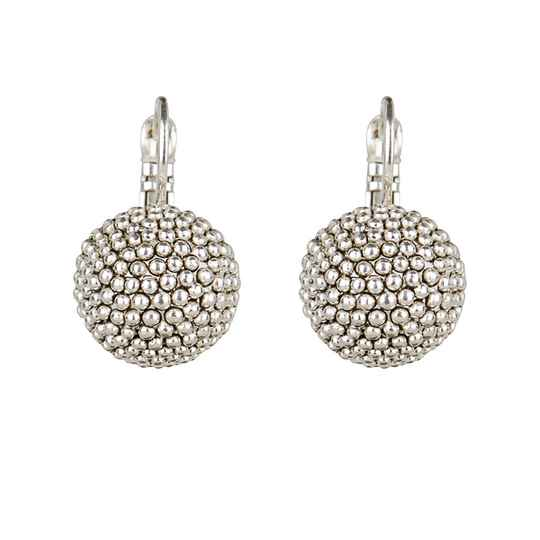 silver plated globe | Camps & Camps earring