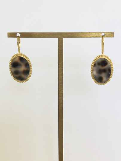 Tiger Shell Ovale Earring | Betty Bogaers
