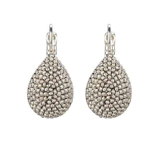 Silver drop dormeuses | Camps & Camps earring