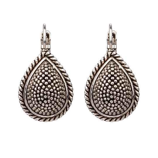Silver plated dormeuses | Camps & Camps earring