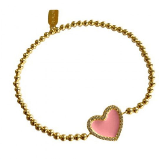 HEART CC COLOR PINK GOLD COLOURED