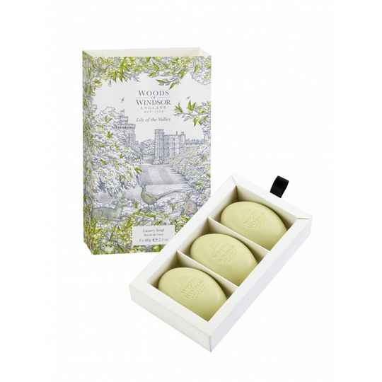 Lily of the Valley English Soap  3 x 60 gr