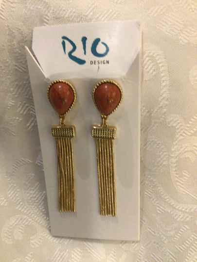 Oorbellen Rio Design Gemstone agaath rood
