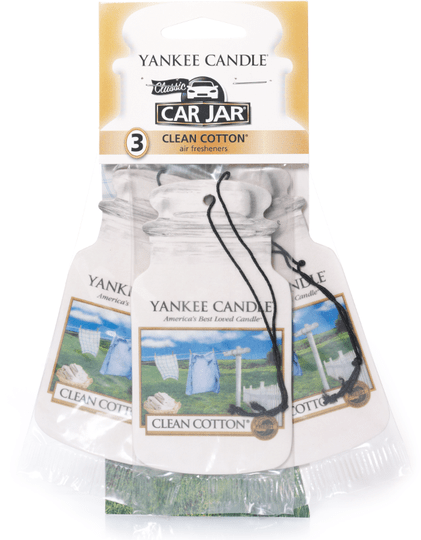 Clean Cotton Car Jar 3 Pack