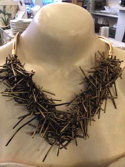 Marilia Capisani Collier gold recycled rubber