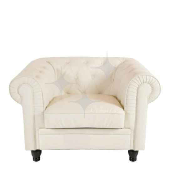 Chesterfield fauteuil wit