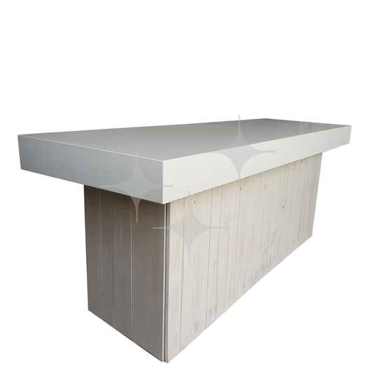 Natural White buffet 240x80 Wit blad