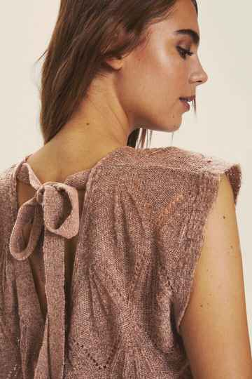 Cream Mary Knit Faded Brown