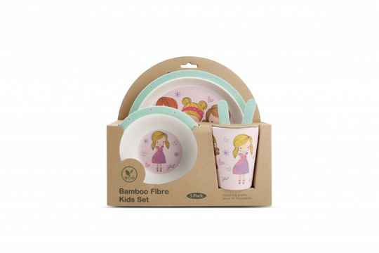 Yong Kinderservies Fashion Girl Bamboe 5 Delig. 613343