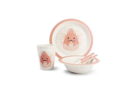 Yong Kinderservies Hedgehog Bamboe 5 Delig. 685000