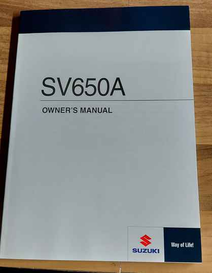 Owner's manual - 9901118K5001A - SV650A