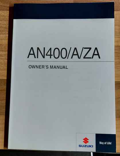 Owner's manual - 9901105H7601A - AN400/A/ZA