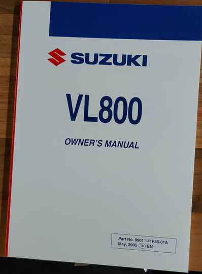 Owner's manual - 9901141F5501A - VL800