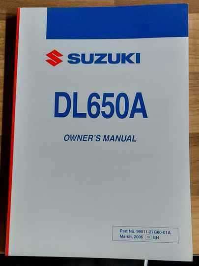 Owner's manual - 9901127G6001A - DL650A
